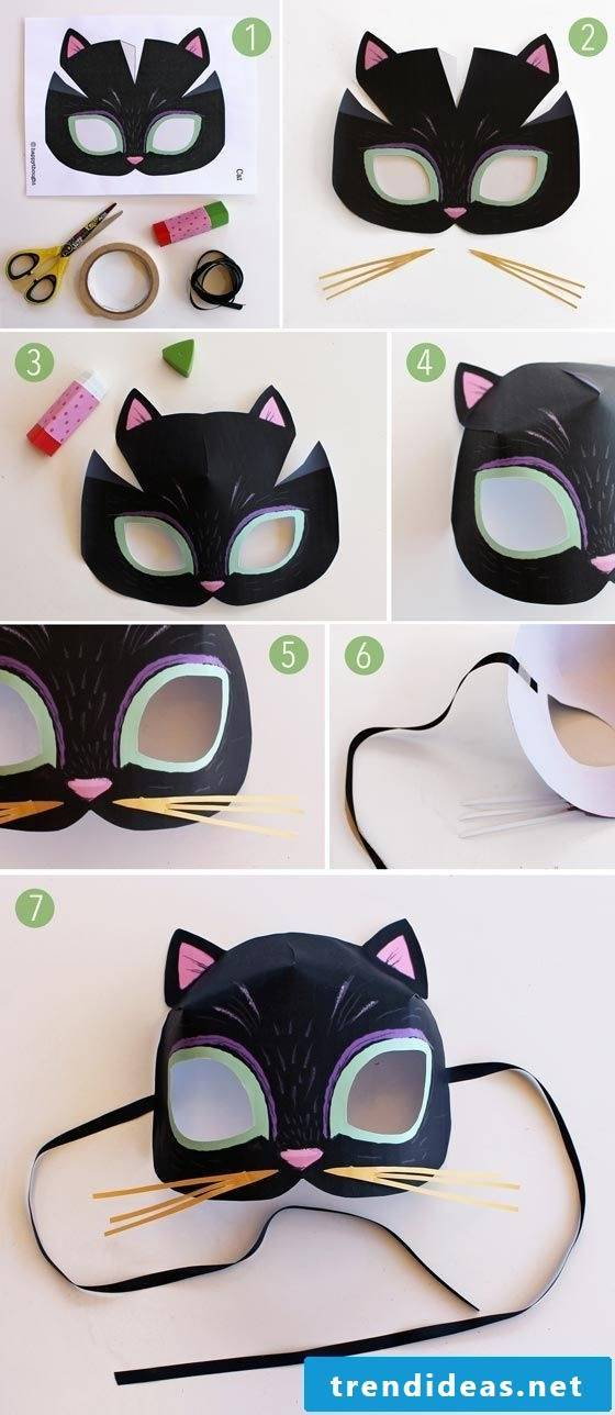 cat animal masks tinker diy instruction easy