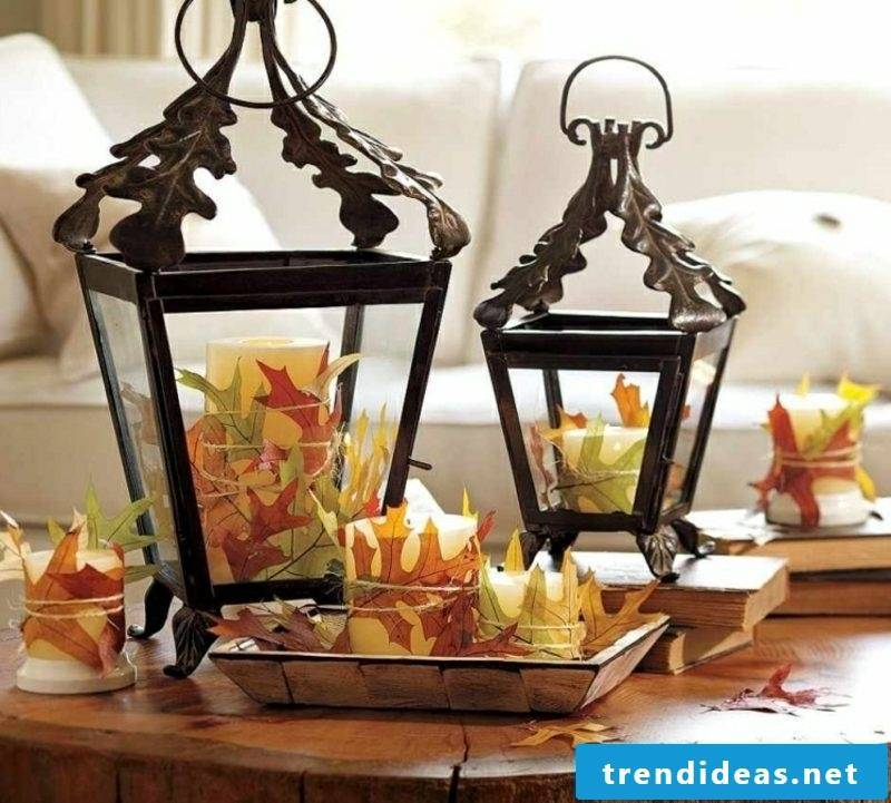 Autumn decoration Vintage lanterns
