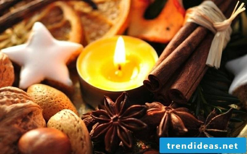 Autumn decoration table creative ideas cinnamon aroma candles