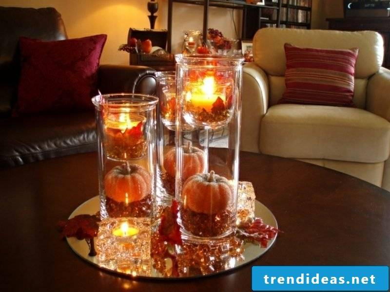 Fall decoration table living room wonderful look