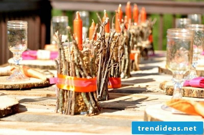 Autumn decoration table of course creative ideas