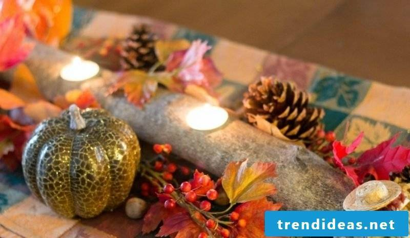 Fall decoration table natural look