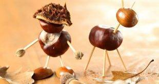 Making chestnuts - ideas and instructions for beautiful autumn decoration
