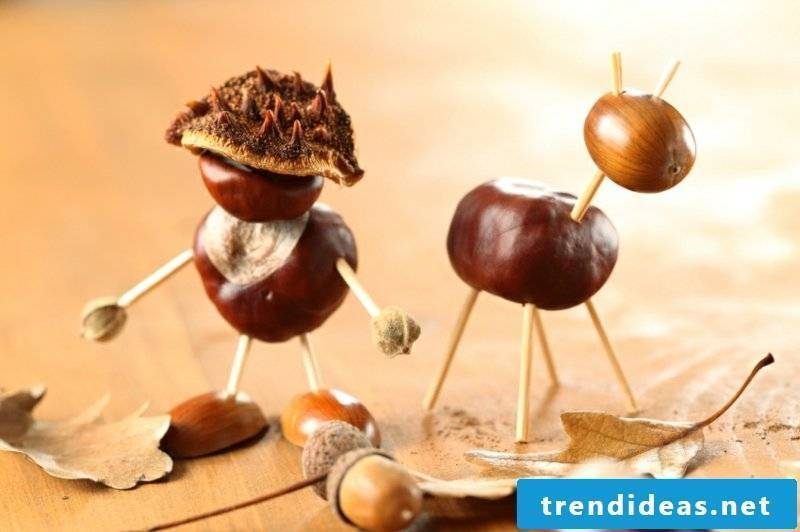 Chestnuts make ideas and instructions