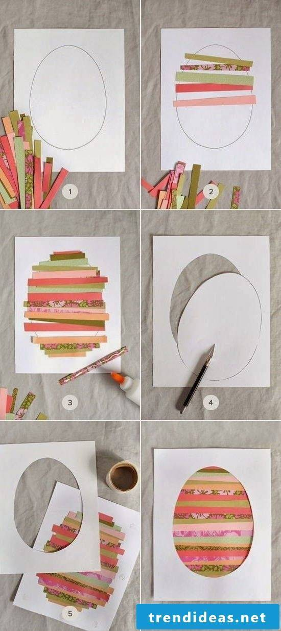 making Easter cards yourself in colorful colors is an exciting task