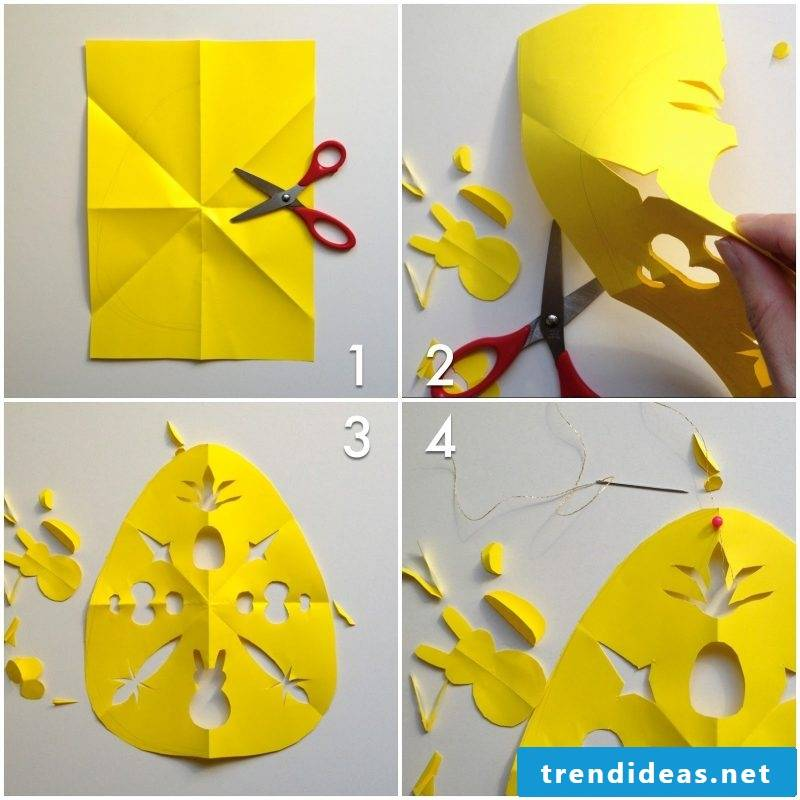 Easter cards DIY scissors suggestions