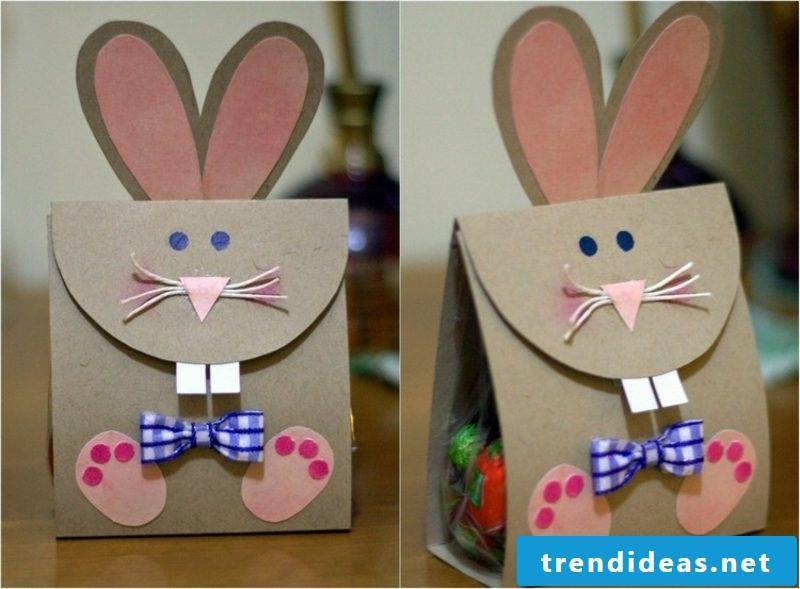 Rabbits make original paper gift bags
