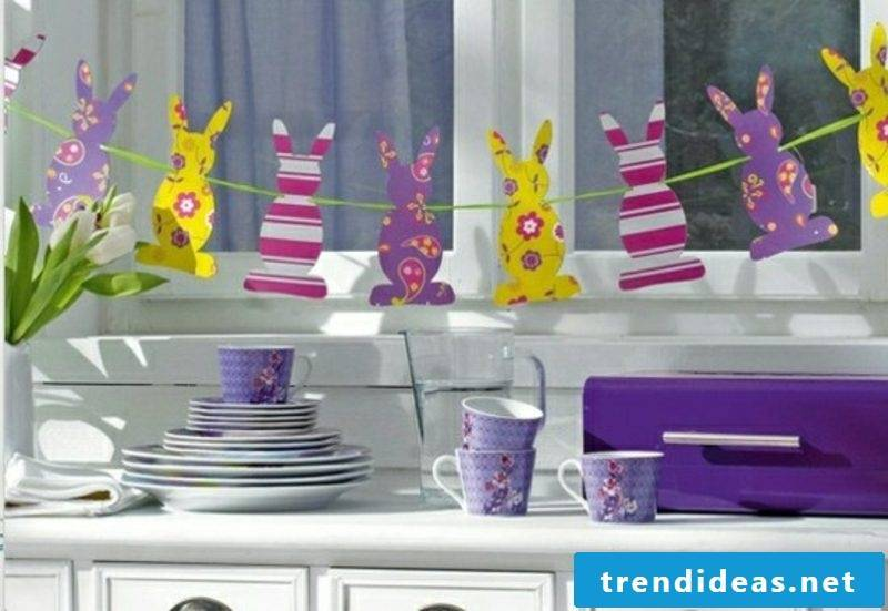 Paper garland easter bunny decorating ideas for Easter