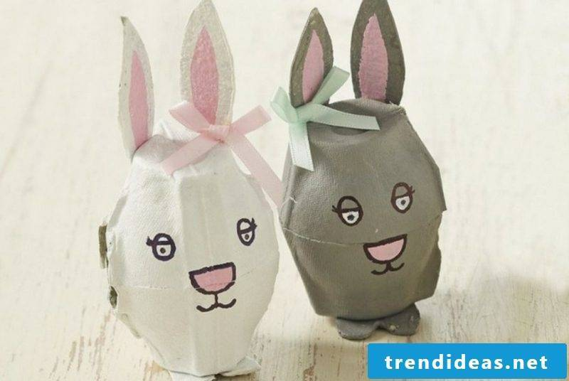 funny easter bunnies from egg carton