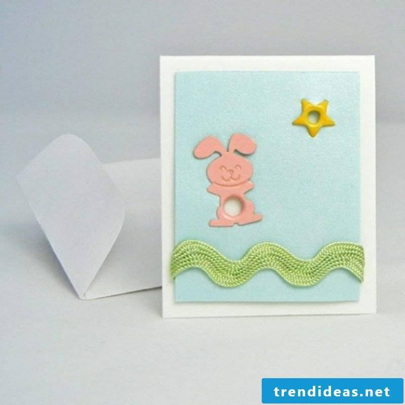 Greeting cards for Easter tinker bunny pattern