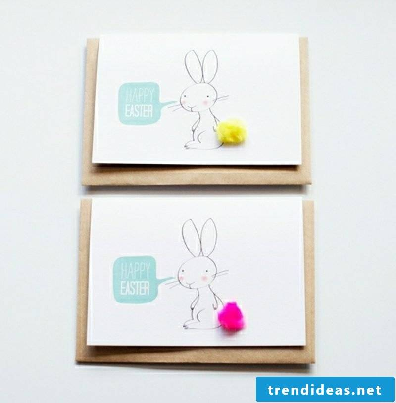 Easter greeting card with bunny pattern
