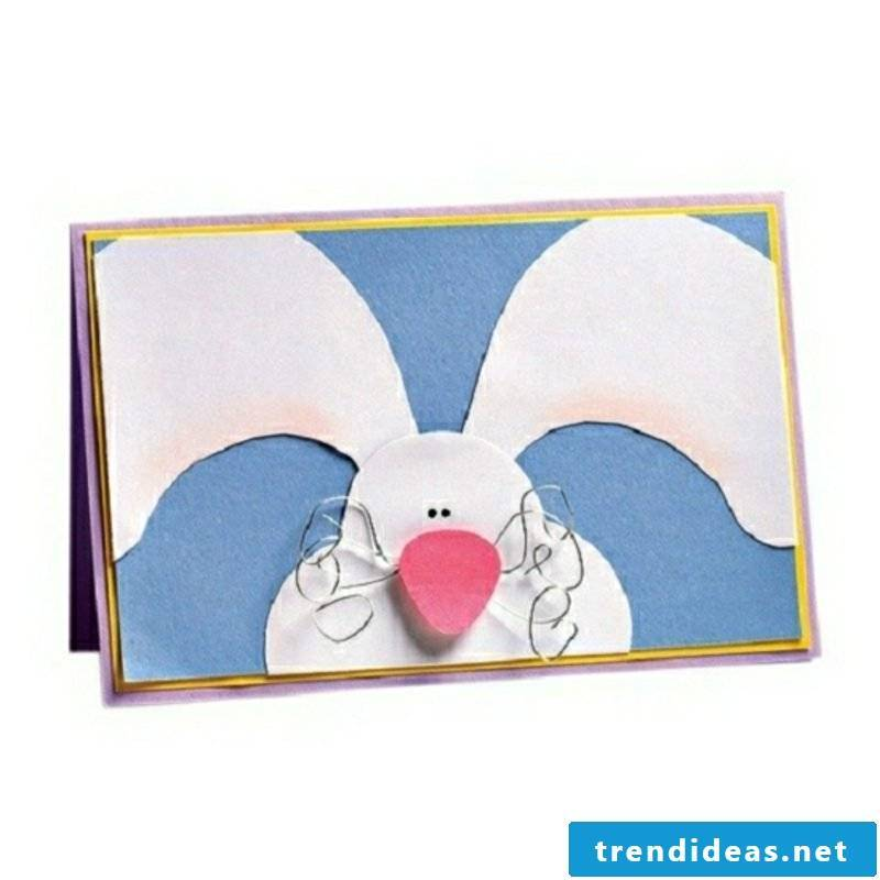 funny greeting card Easter bunny pattern