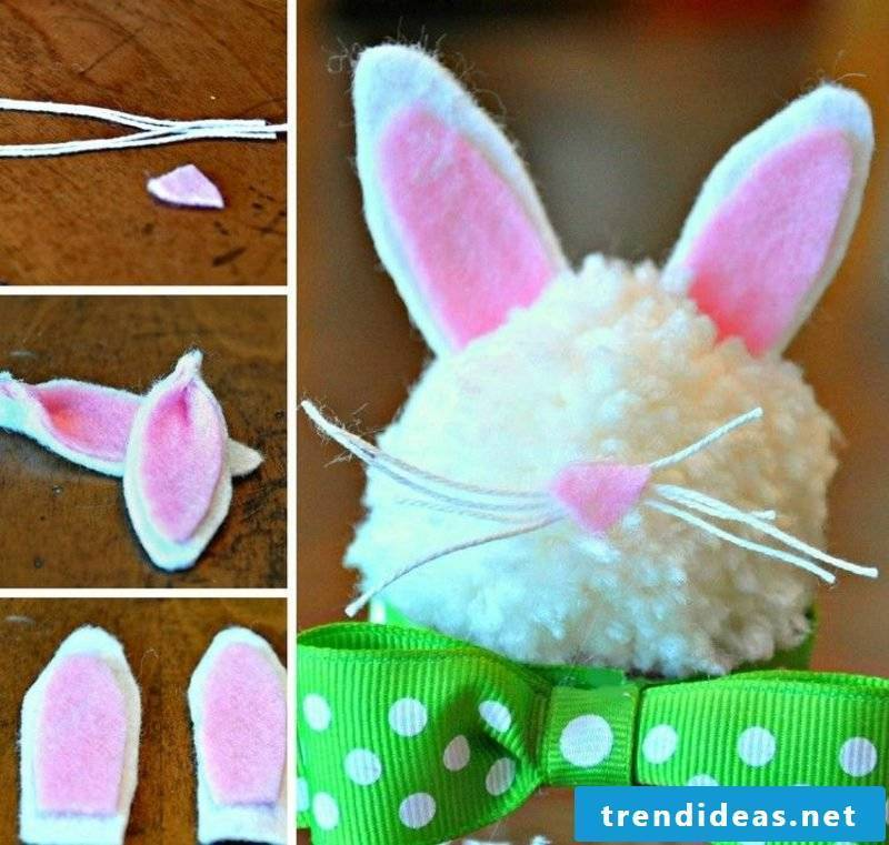 Make Easter bunny out of felt yourself