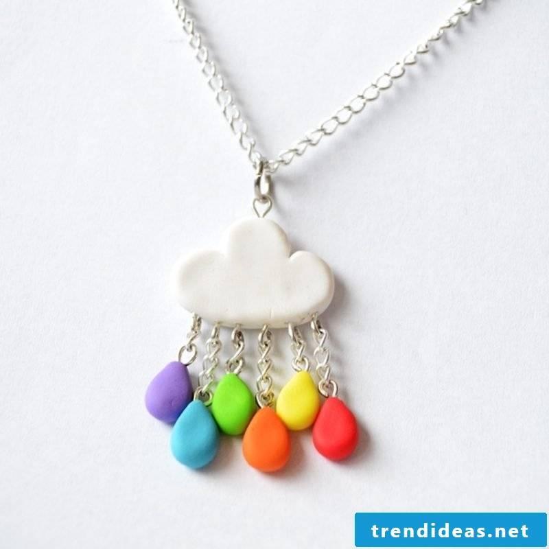 Craft Ideas Jewelry Polymer Clay Necklace