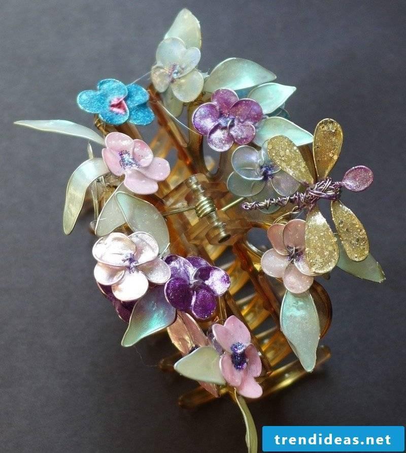 DIY jewelry tinker hair clip decorate
