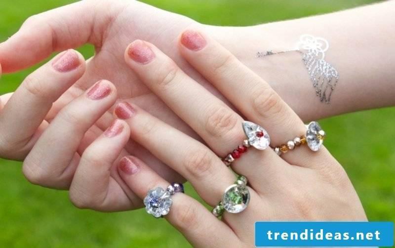DIY jewelry make great rings
