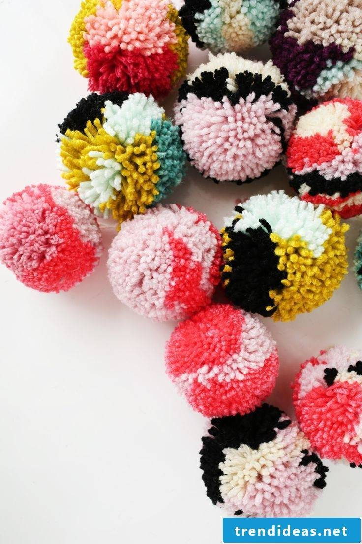 Colorful pompoms for a good mood
