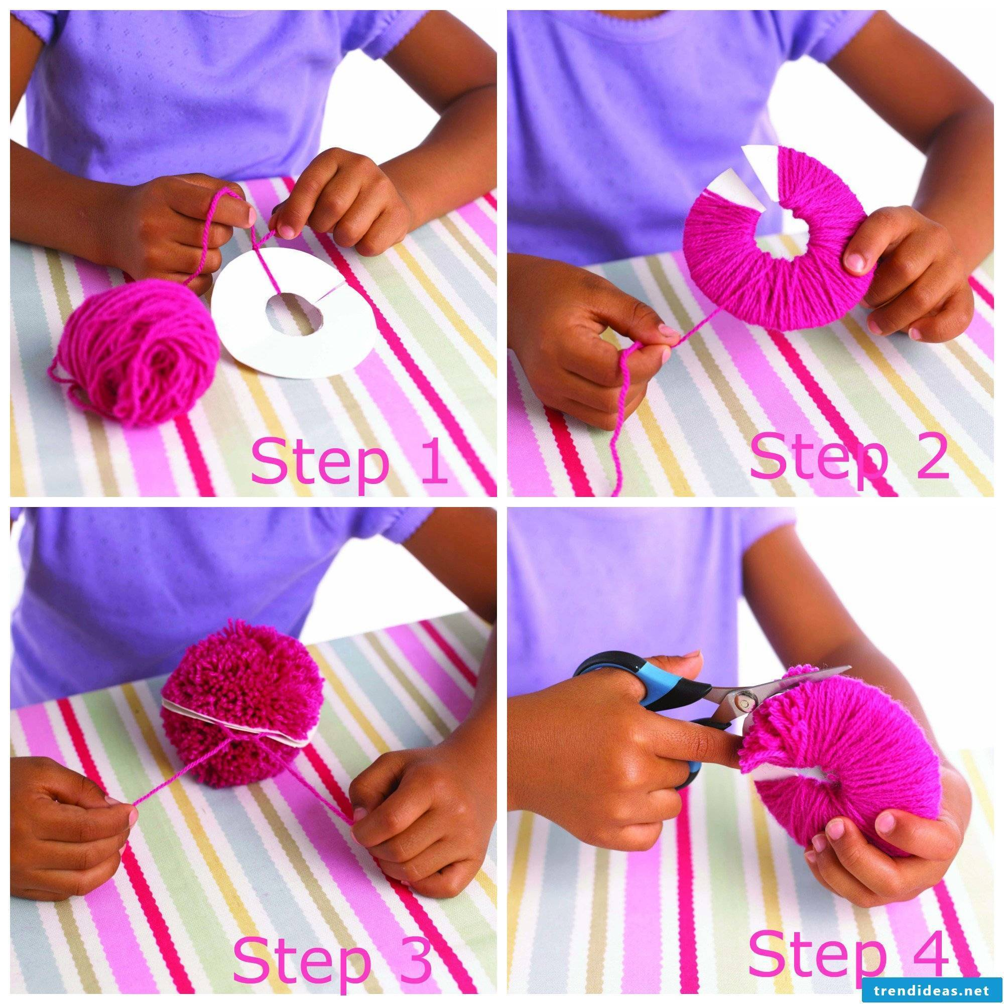 Make pompoms yourself