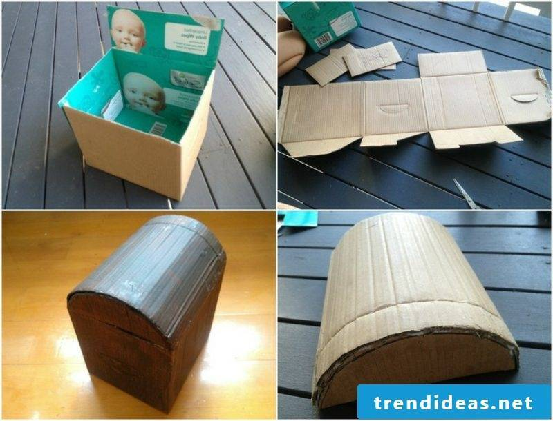 DIY treasure box tinker old cardboard packaging instructions