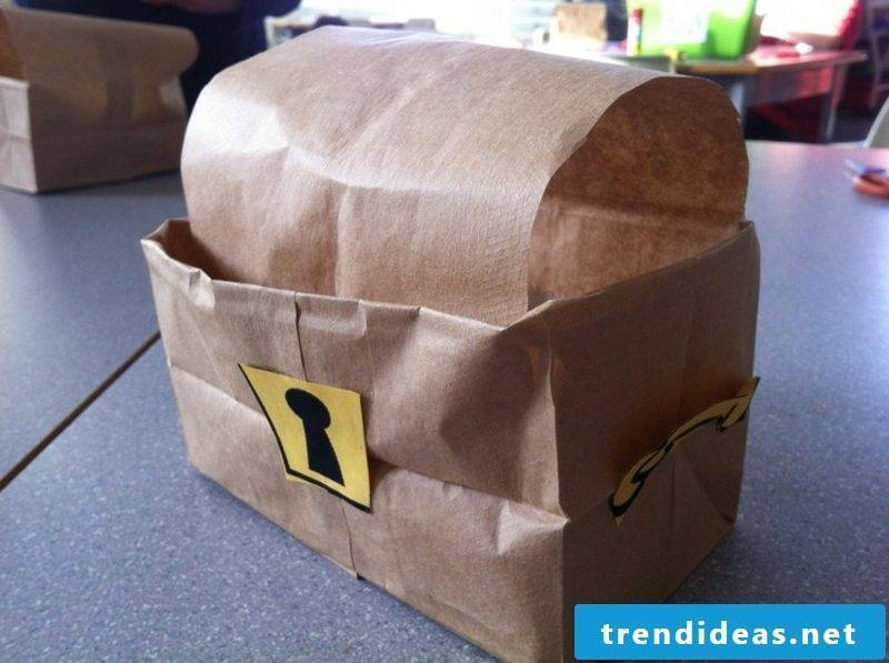 Treasure chest just make paper bags