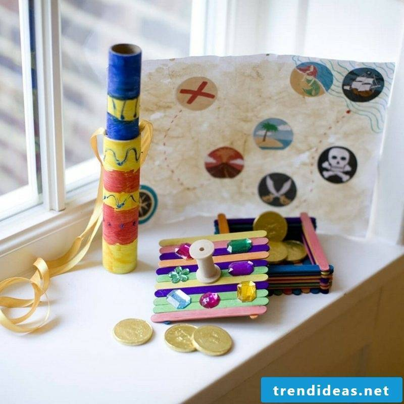 Treasure box tinker card DIY ideas