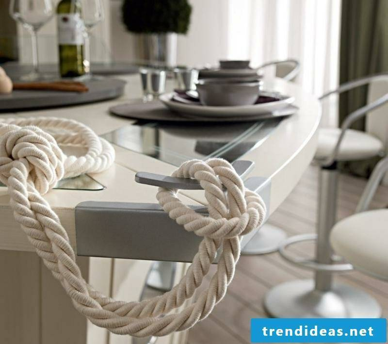 Accents maritime furnishings