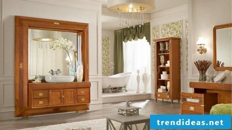 Bathroom in maritime decor style