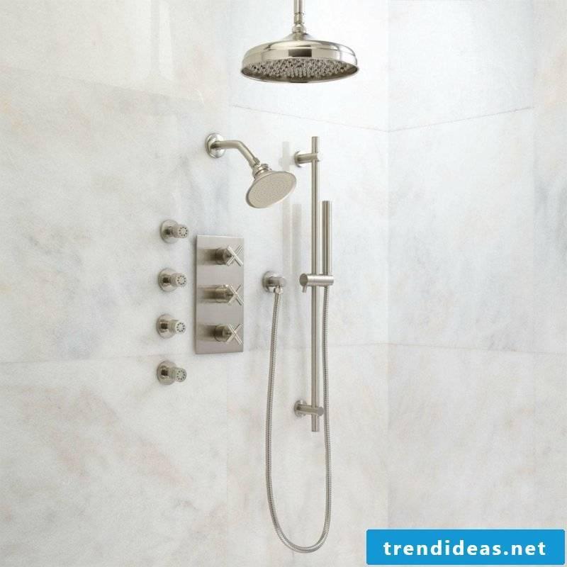 brick shower
