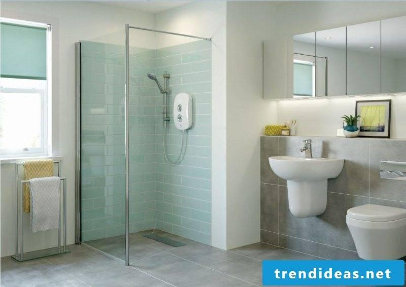 modern shower room brick shower