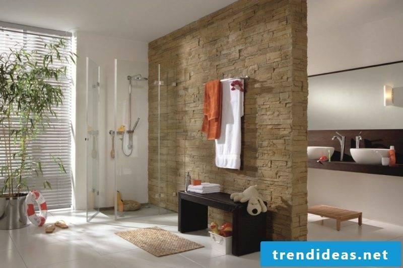 Bathroom design brick shower