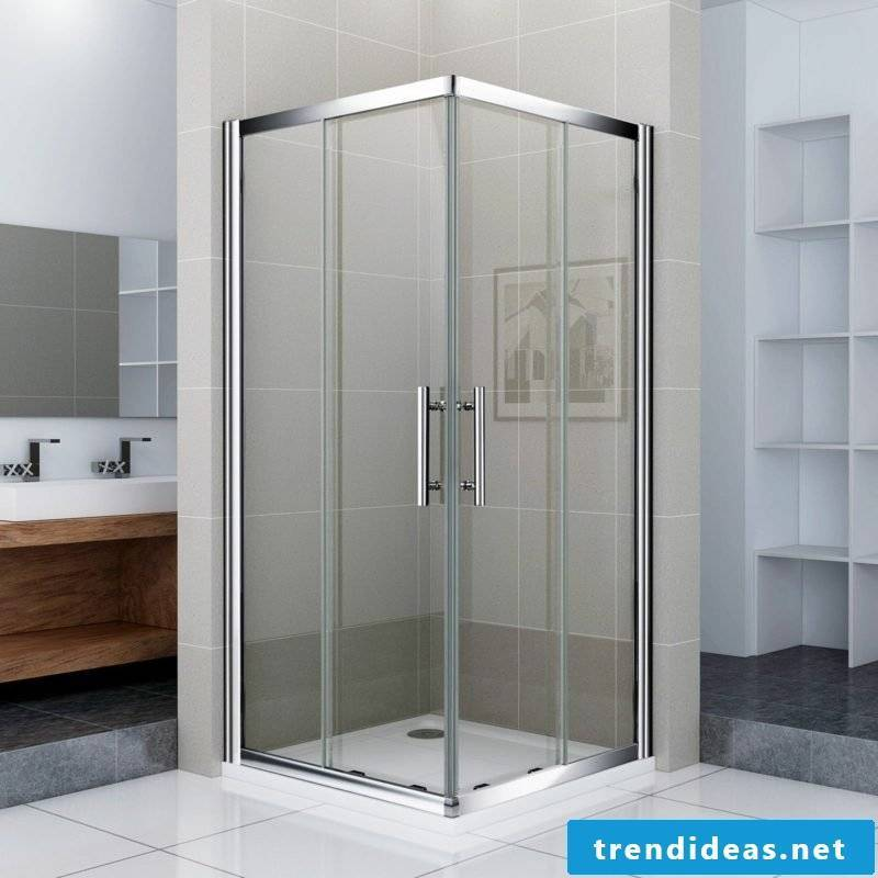 modern glass shower cubicle