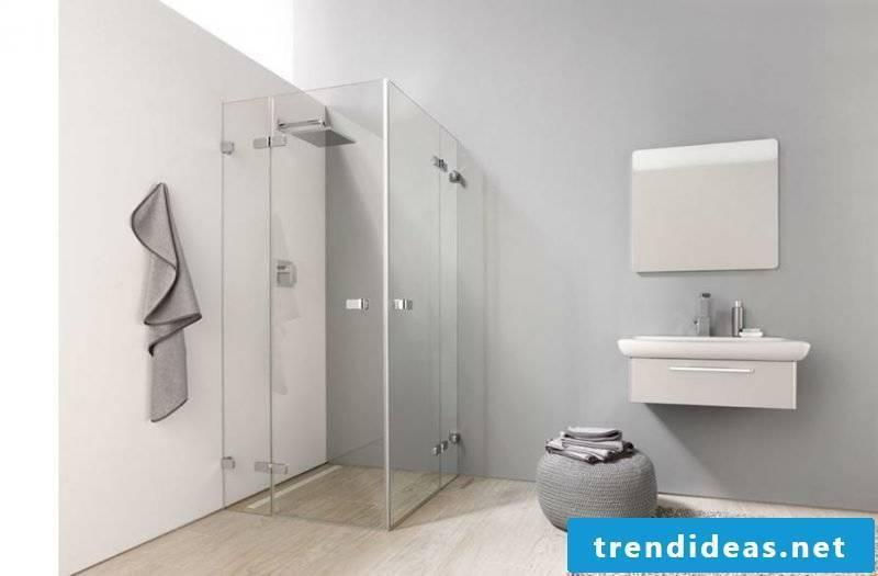 brick shower glass shower cabin