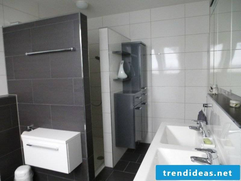 brick shower and shower cubicle