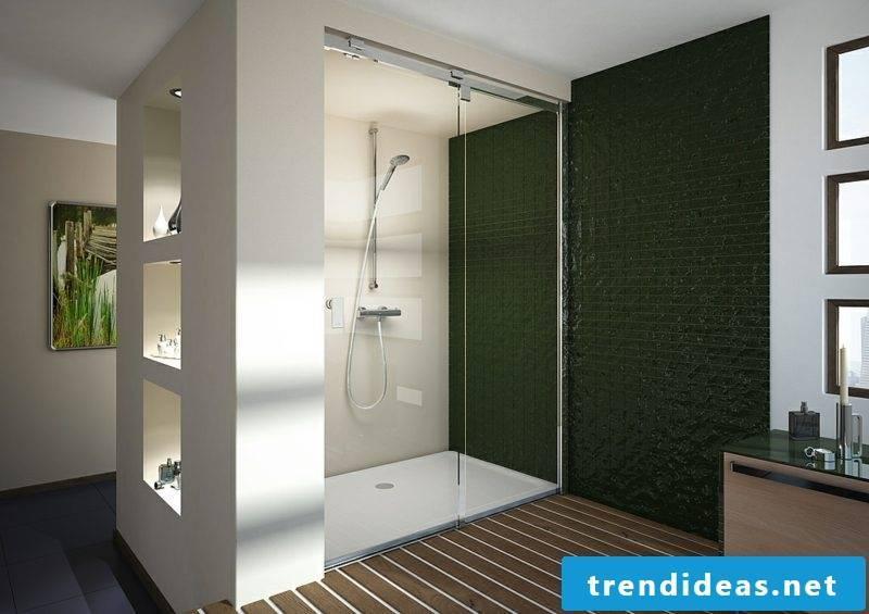 Shower bricked