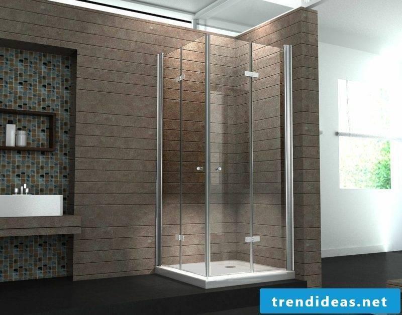 Glass shower cabin modern design