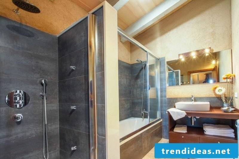 Bathroom design ideas brick wall shower