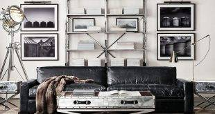 Metal shelves: current interior design ideas