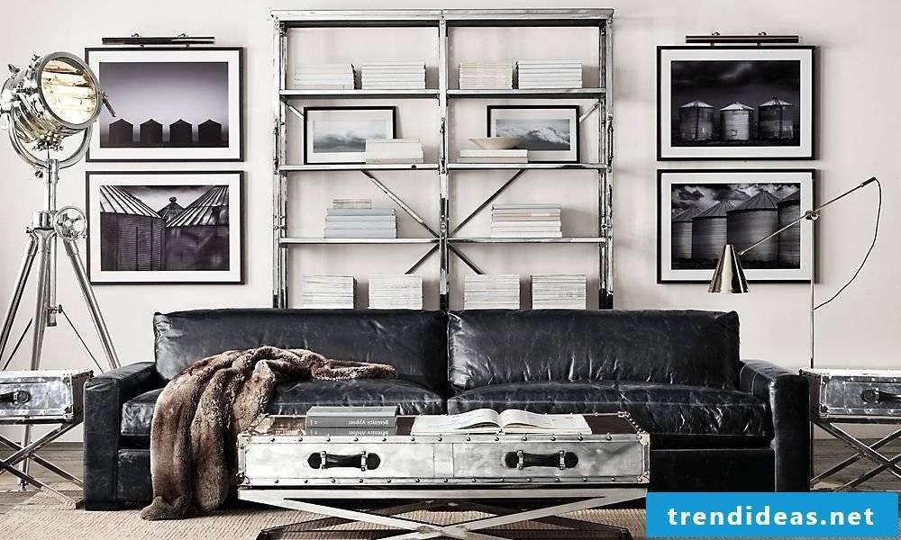 Modern metal shelves for the home