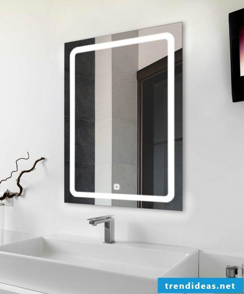 original illuminated bathroom mirror