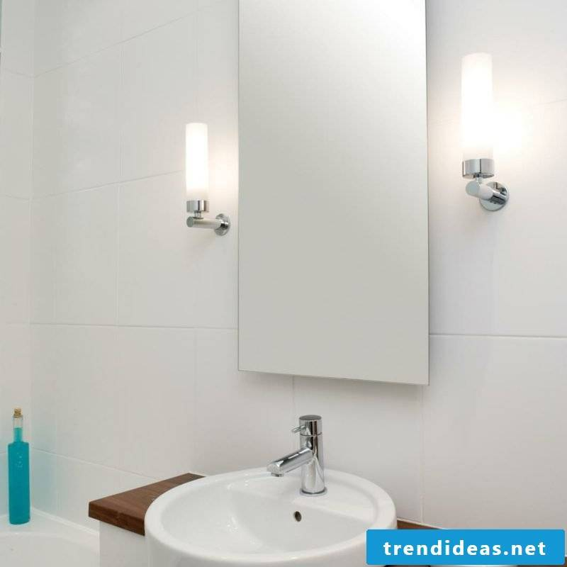 Lighting of the bathroom mirror