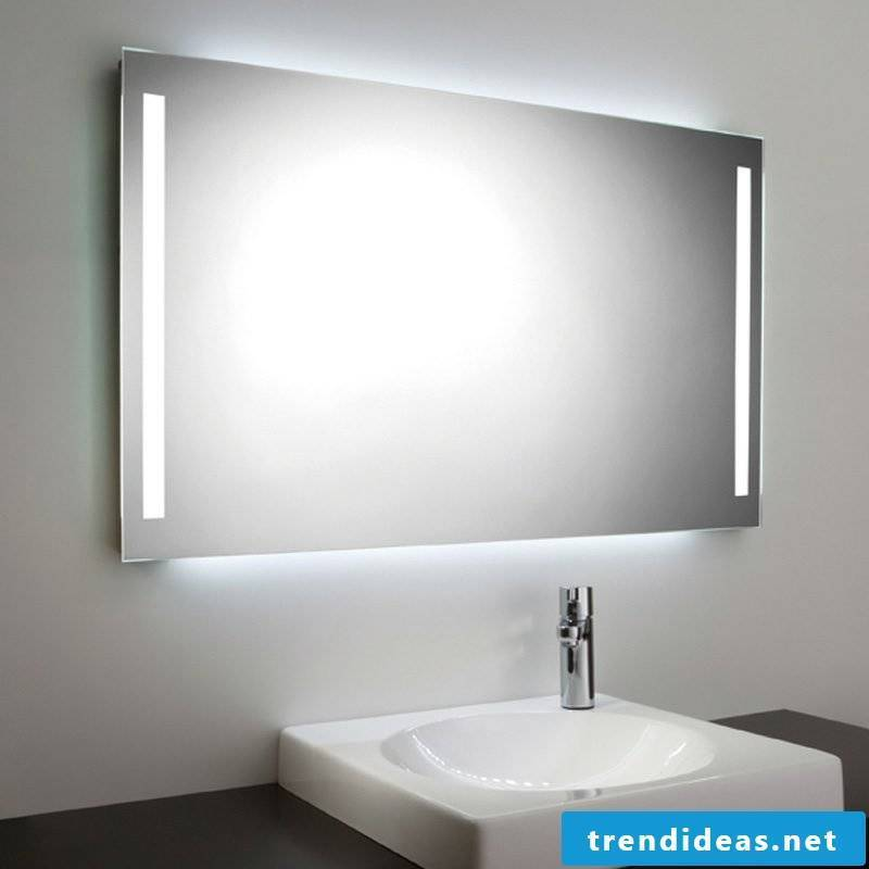 modern bathroom mirror with integrated lighting