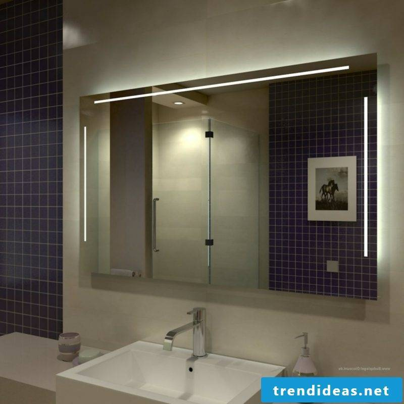Mirror with lighting bathroom