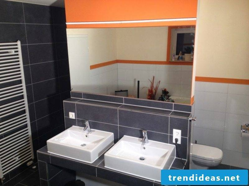 Bathroom design mirror lighting