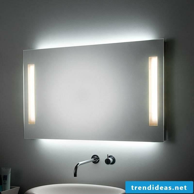 Mirror lighting bathroom