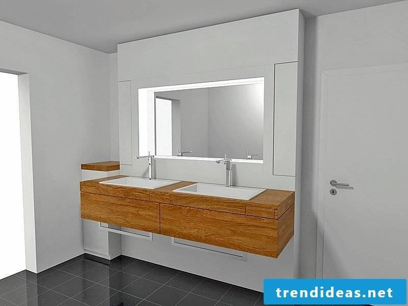 illuminated mirror bathroom