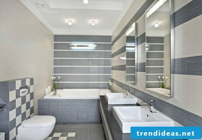 Tile bath impressive pattern