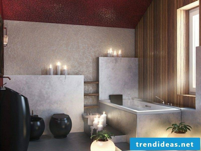 Bathroom tiles gray stone