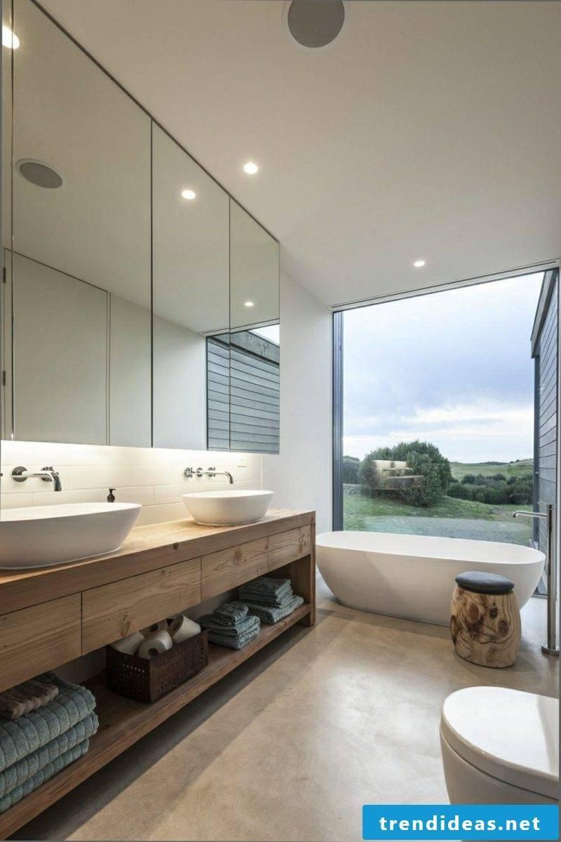 modern bathroom design tips accent wall