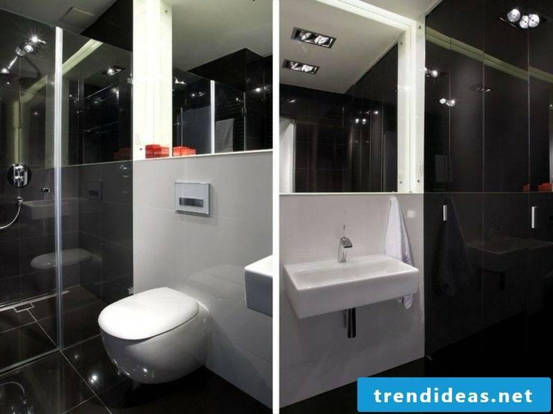modern bath black white