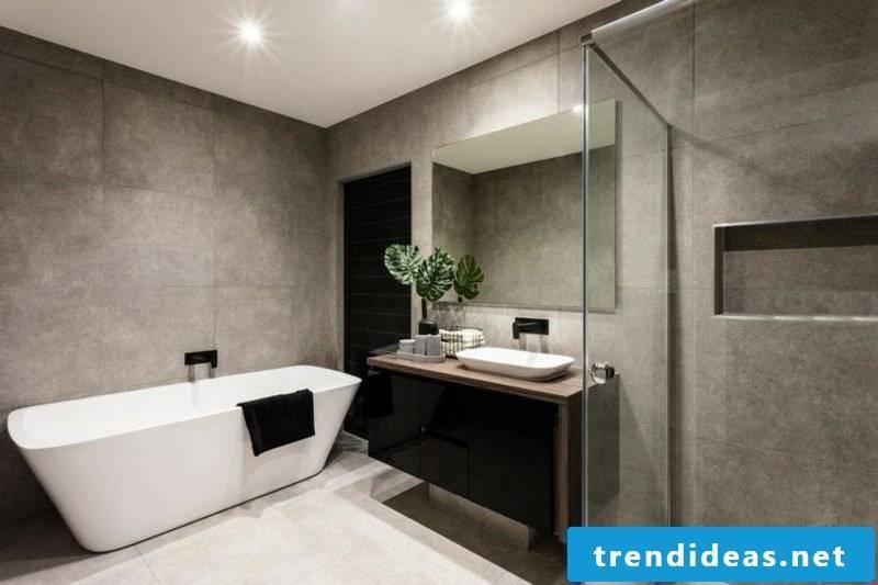 Bathroom tiles ideas gray stone tiles